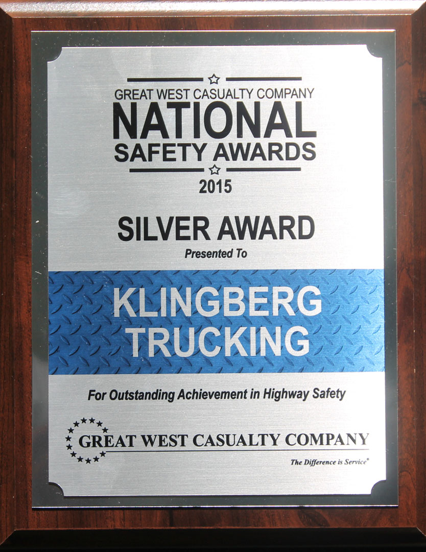 National Safety Silver Award